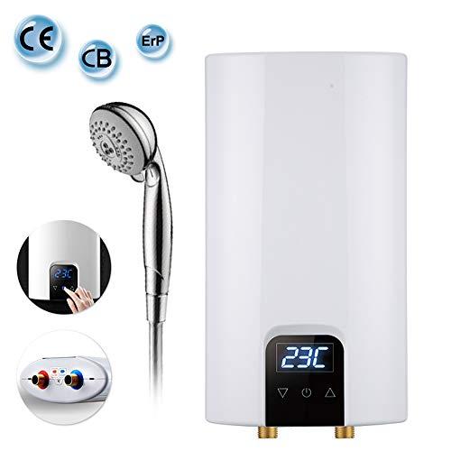 LLFFDC Elektronischer Klein Durchlauferhitzer, Intelligente Konstante Temperatur Tankless Warmwasserbereiter mit LCD-Anzeige und Ausschaltschutz für Badezimmer und Küche, 6KW / 7KW / 8KW,7KW