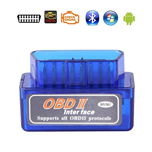 AUOTO Bluetooth Mini Elm327 OBD2 Scanner Car Diagnostic Tool Code Reader for Smart Phone Android Windows Symbian English