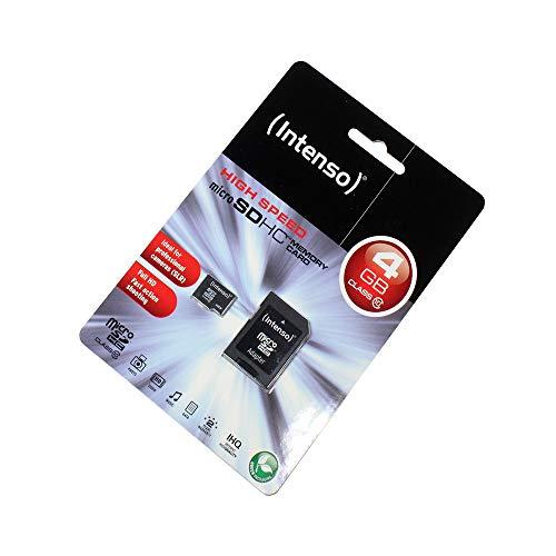 P4A 4GB microSDHC Speicherkarte für ZTE R28, Class 10, Full HD, SD Adapter inklusive