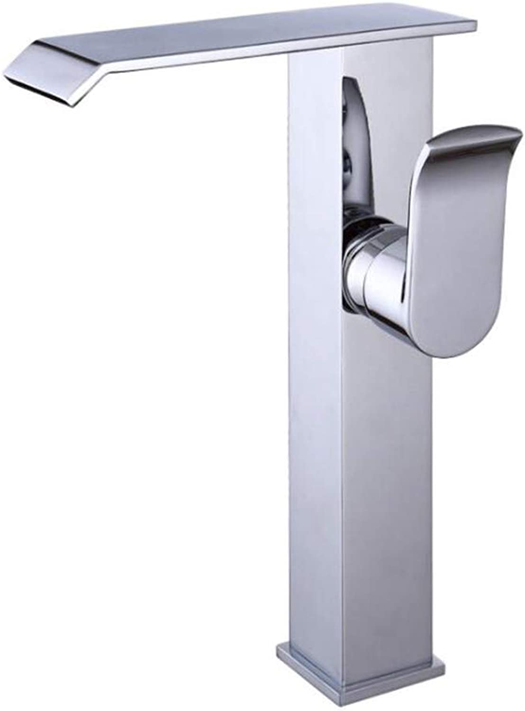 Verchromtem kupfer waschbecken wasserhahn weite mündung wasserfall, heies und kaltes wasser wasserhahn moderne bad wasserhahn-geeignet für bad küche
