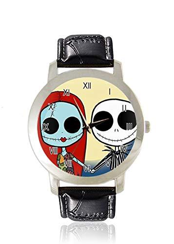 Double Puppet Damen-Armbanduhr, dünn, minimalistisch, modisch, wasserdicht, analog, Lederband, Geschenk