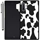 Custom Case Compatible with Galaxy Note 10 Plus (Cow Print) Edge-to-Edge Rubber Black Cover Ultra Slim | Lightweight | Includes Stylus Pen by Innosub