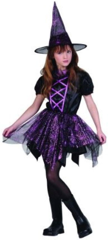 Costumes RG 91416-L Glitter araign-e costume de sorci-re - Taille Enfant Grand 12-14