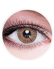 Dahab Sun Kiss Contact Lenses, Unisex Dahab Cosmetic Contact Lenses, 9 Months Disposable- Eye Enlargement Collection, Sun Kiss (Honey Brown Color)