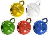 Rayher Hobby 25086000 cascabeles de Metal, 19 mm de diámetro, SB-diseño, 5 pcs, Multicolor