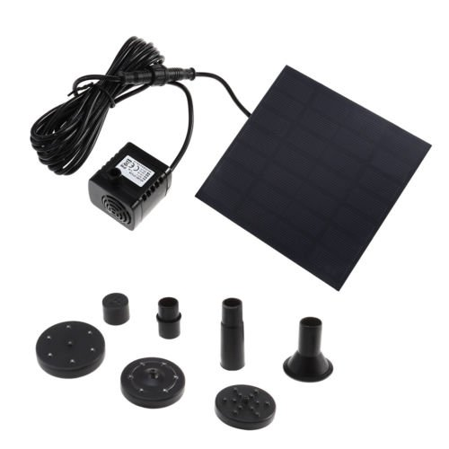 1.2W Solar Water Pump Power Panel Kit Fountain Pool Garden Pond Submersible Top