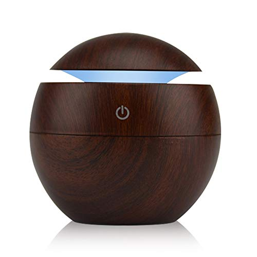 CHENTAOCS Led-nachtlampje met 7 wisselende kleuren, USB met aroma, etherische diffuser, luchtbevochtiger met koele mist, luchtreiniger, lamp voor kantoor en thuis