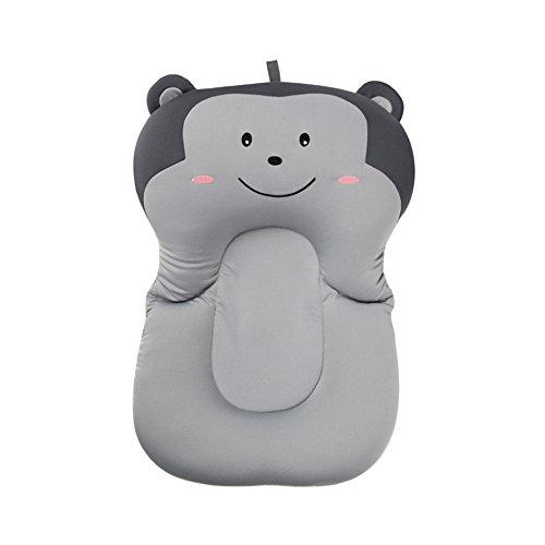 belupai Baby Bad Pad Neugeborenen Baby Faltbare Baby Badewanne Pad Stuhl Regal Neugeborenen Badewanne Sitz Infant Unterstützung Kissen Mat(Grauer Affe)