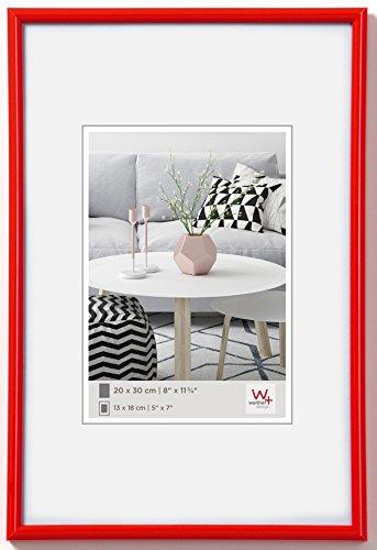 walther design KR130H Galeria Kunststoffrahmen im Format, 1 (21 x 29,7 cm), rot