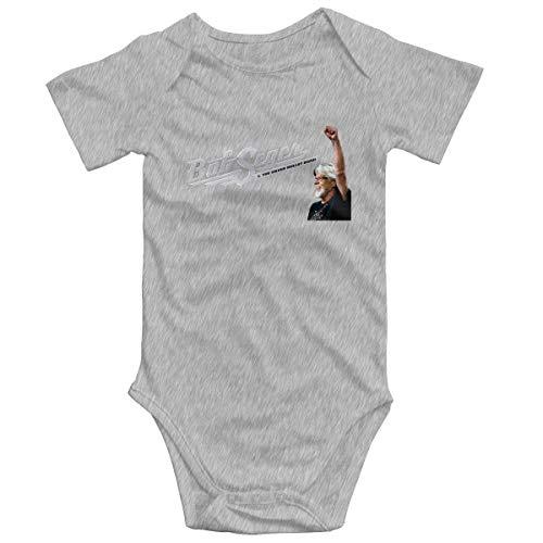 Bob Seger 100% Cotton Baby Climbing Short Sleeve Bodysuit Gray