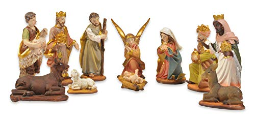 Riffelmacher Krippenfigurenset 11-TLG. 78322-2-7 cm Handarbeit Weihnachtskrippe Jesus Geburt Weihnachtswunder Heiligabend Dekoration