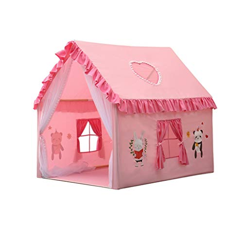 Four Seasons Play Tent, inpandig balkon Game House Children's Environmental Protection Tent/ruime opzet, is geschikt for 3-4 Children (Color : Pink, Size : 100 * 126 * 120CM)