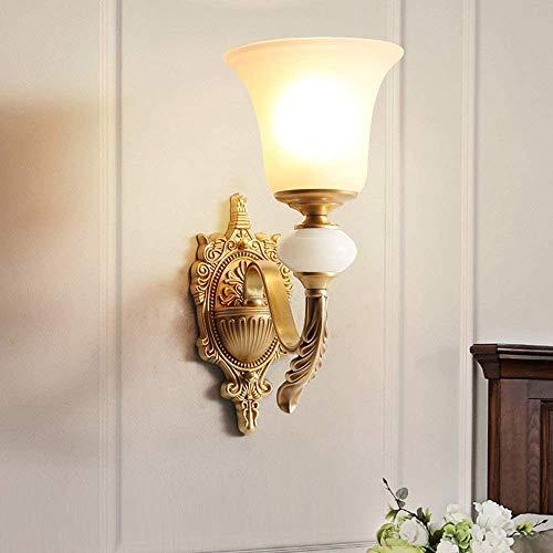 YANQING Duurzaam Goud Alle Koper Amerikaanse Land Wandlamp Thuis Trappen Aisle Corridor Wandlamp Tuin Woonkamer Eenvoudige Noordse Nachtlampjes 16.5x36cm Verlichten Uw Leven