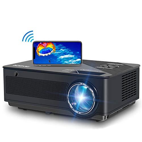 Beamer,FANGOR 2020 Native 1080P Full HD Beamer, WiFi Bluetooth Beamer Support 4K Video, 250 ''Display 6500 Lumen Heimkino Beamer, kompatibel mit TV-Stick, HDMI, Xbox, Laptop, iOS / Android Smartphone