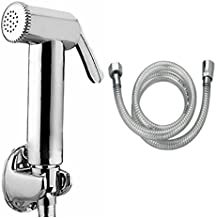 StylEra JAQU HEALTH FAUCET JET SPRAY TOILET SPRAY SET (with PVC Tube and ABS Wall Hook) (1.5 Mtr)