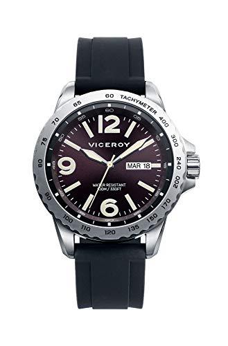 Viceroy Herren Analog Quarz Uhr mit Silikon Armband 471081-44