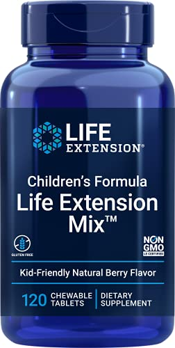 Life Extension Children's Formula Mix 120 Chewable Tablets (Natural Berry Flavor)