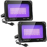 Onforu 2 Pack 50W LED Black Lights, Blacklight...