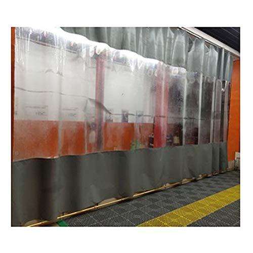 YJFENG Cortina del Panel Lateral De La Tienda, Exterior Impermeable Kiosko Pantalla De Partición, A Prueba De Viento Aislamiento Térmico con Ojal, para Patio, Comedor