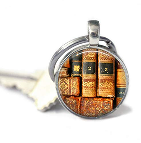 because meet you Antique Books Keychains,Key Ring, Gifts for her, Key Fob