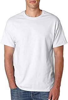 T-Shirts Round Neck Cotton Men summer - White 1X