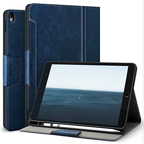 Antbox Hülle für iPad Air 3 2019 10.5 Zoll/iPad Pro 10.5 2017 mit Apple Pencil Halter Auto Schlaf/Wach Funktion PU Ledertasche Schutzhülle Smart Cover für iPad 10.5 2019/2017 (Blau)