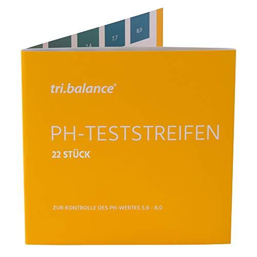 tri.balance pH-Teststreifen 22 Stück – 1er Pack I Messbereich 5,6-8,0 pH I pH-Wert Messung im Urin - Wasser I Kontrolle des Säure-Basen-Haushalts