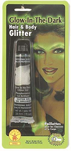 Rubies Glow in the Dark Hair and Body Glitter-green Glow