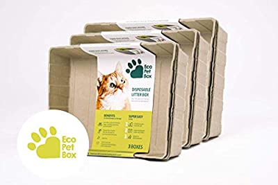 Enviro Works 3 x 3-Pack Eco Pet Box Odourless and Leak Free Cat Litter Box Disposable Tray