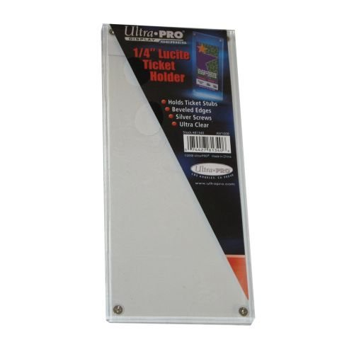 5 Pack Ultra Pro #81340 Lucite Ticket Holder New in The Pack