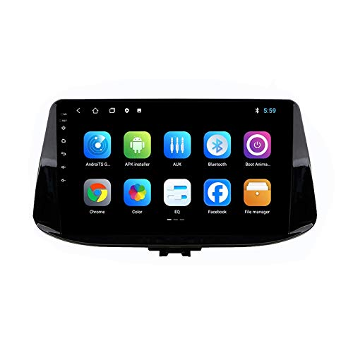 2 DIN Radio De Coche, Autoradio FM Tuner con Bluetooth Manos Libres 9' Pantalla Táctil/Mirroring De La Pantalla/WiFi Apoyo DSP Navegación GPS, para Hyundai I30 2017-2018,Quad Core,4G WiFi 1+32