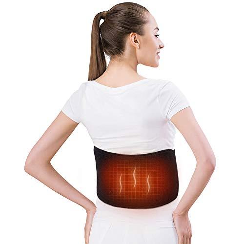 Cinturón de Calefacción Eléctrico para la Parte Inferior de la Espalda, Cinturón Lumbar Ajustable con 3 Niveles de Calentamiento, Aliviar Dolor de Espalda para Hombres y Mujeres