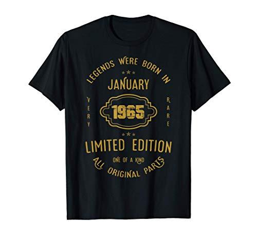 56 años de cumpleaños - Las leyendas nacen en enero de 1965 Camiseta