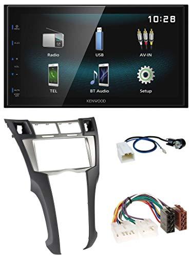 caraudio24 Kenwood DMX120BT AUX Bluetooth USB MP3 2DIN Autoradio für Toyota Yaris (2007-2011)