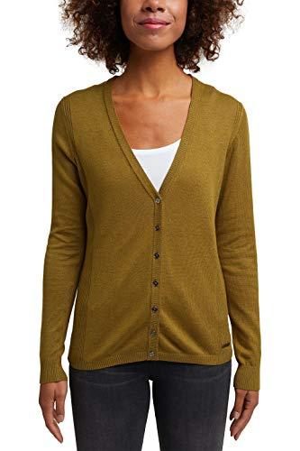 Esprit 990ee1i302 Suéter cárdigan,Verde ( 364 / OLIVA 5 ) , XS para Mujer