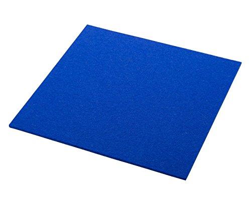 ESTA-Design Dessous de Verre en Feutre Bleu Roi 33 x 33 cm
