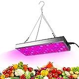 LED Crece la luz para Las Plantas de Interior, 25W Panel Spectrum 75 Full LED Crece la lámpara con la Planta de Luces del IR y UV para la Planta de semillero de hortalizas y Flores