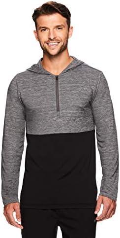 Gaiam Men s 1 4 Zip Up Activewear Pullover Hoodie Long Sleeve Running Yoga Sweater Meditation product image