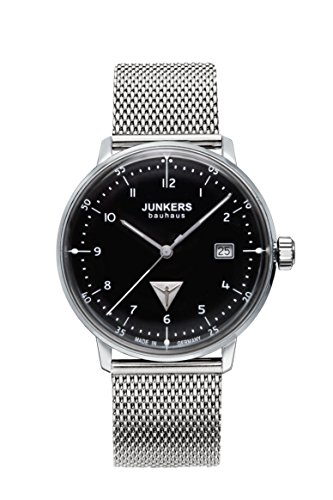 Junkers Herren Analog Quarz Uhr mit Edelstahl Armband 6046M2