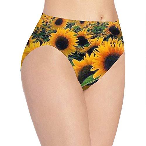 XCNGG Höschen Damenunterwäsche 3D Print Soft Women's Underwear, Bright Sunflower Fashion Flirty Lady's Panties Briefs Small