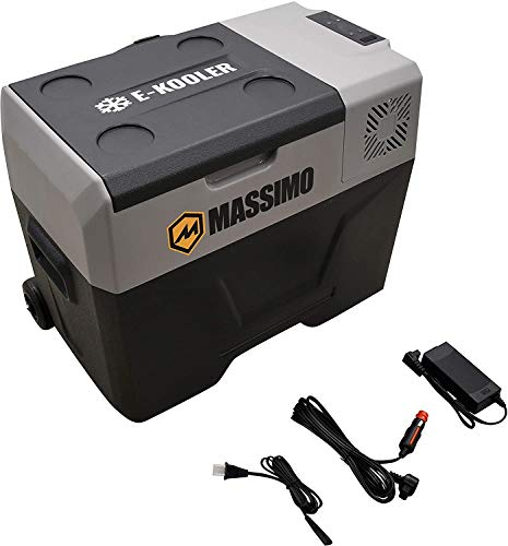 M MASSIMO MOTOR 30L Electric Cooler with Trolley Wheels & Telescopic Handle | 12V DC AC Portable Refrigerator | Travel Freezer for Picnic, Camping, Boat & Car, 40L-Large
