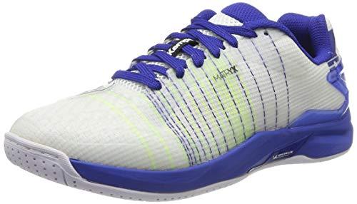 Kempa Attack Two Contender, Chaussures de Handball Homme, (Blanc/Bleu Nuit 02), 41 EU