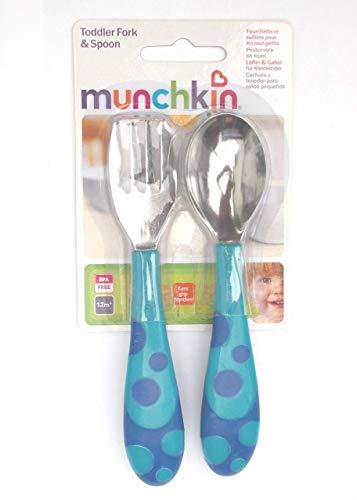 Munchkin Lot de fourchette et cuillère pour tout-petit 12 mois sans bisphénol A
