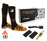 Pristall Remote Control Heated Socks | Rechargeable Battery Heating Socks for Men and Women | Deluxe Heat Socks Keep Feet Warm Indoors or Outdoors | Great for Ski, Outdoor Work, Camping and Hunting
