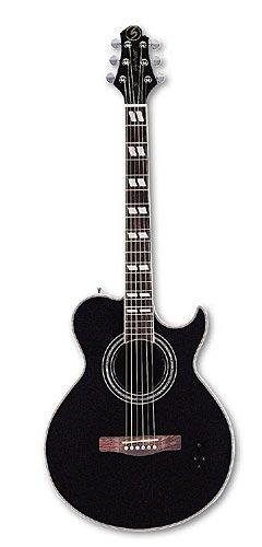 Gerg Bennett 52GBSMJ-10CE/BK - Guitarra acústica con cuerdas metálicas