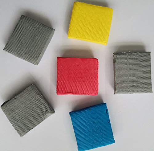 Knead Erasers, Design Eraser,Drawing Art Erasers, Kneaded Rubber Erasers for Drawing, Charcoal, Pastels-Moldable Putty Rubber, No Smudge Eraser, Sketching Supplies for Artists-6 Pack (Assorted Colors) Photo #3