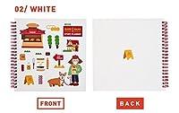 [6ヶ月]スタディプランナー かわいい 韓国 文房具 イラスト デザイン[Barobaro Study Planner] 韓国語 勉強 2つの色 【送料無料】 大人気★ 在庫限りの特別価格 新製品 (ホワイト(White))