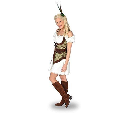 Sexy Robin Hood - Costume corto da donna - Sagomato, senza maniche e corsetto - Per carnevale o altri eventi - 40/42