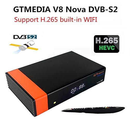 ACHICOO GTMedia V8 No-va DVB-S2 Receptor de satélite Freesat H.265 con WiFi, Caja de TV, Enchufe de Reino Unido