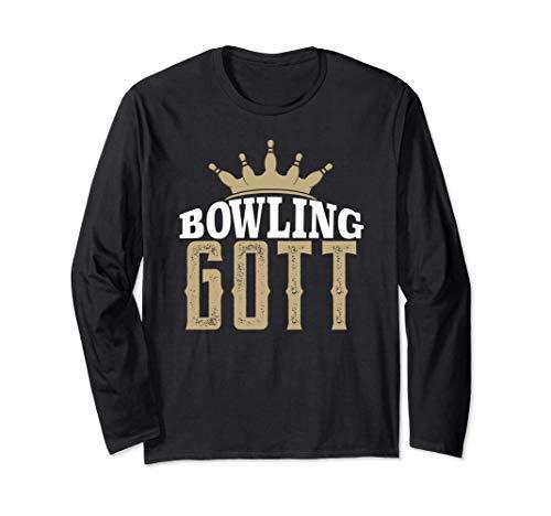 Bowling Gott Bester Bowlingspieler Geschenk Bowler Langarmshirt
